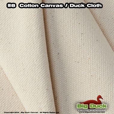 "#8/60"""" Cotton Canvas Duck (18 oz) - Natural"