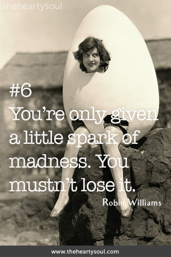 11 inspiring quotes from Robin Williams to fill your day with joy.
