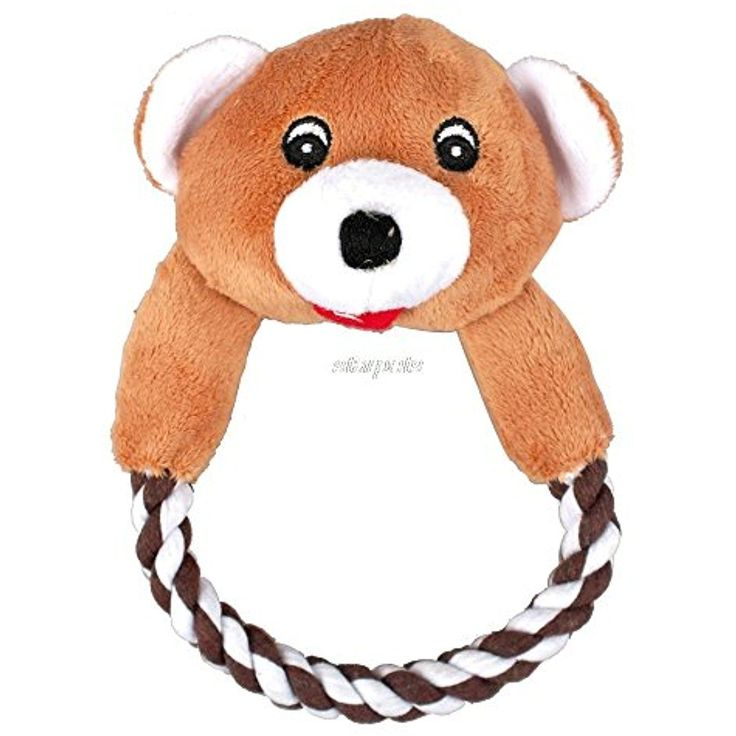 Pets Corner Market Dog Cat Puppy Plush Toys Interactive Pet Puppy Chew Squeaker Squeaky Dog Toy Sound Duck Frog Bear Pig Dog 5 Designs (Bear, Small) ** Click image to review more details. (This is an affiliate link) #DogSqueakToys #interactivecattoysdesign