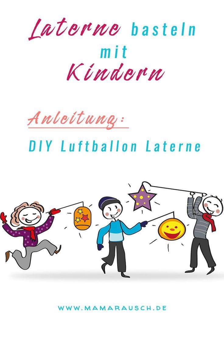 Funileiro de lanterna de balão DIY com crianças