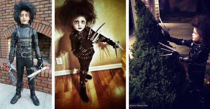 EDWARD SCISSORHANDS: We had two amazing homemade Edward Scissorhands costumes, and I couldn't choose. So I'm putting both in one collage. Brennan Luke on the left and 3-year-old Sophie in the middle and on the right (submitted by Scott Burt) both have amazing parents.