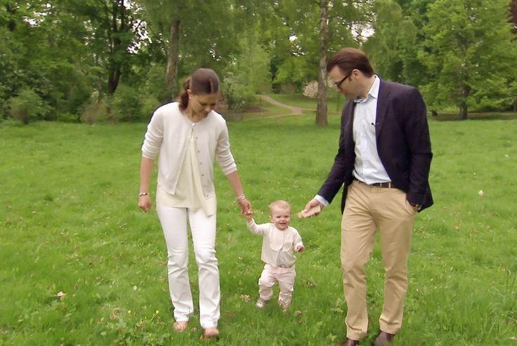"""Crown Princess Victoria, Prince Daniel and Princess Estelle of Sweden participate in a documentary on SVT1 """"Haga Palace, a royal home"""" to be air on Easter Sunday in Sweden 4/10/2014"""