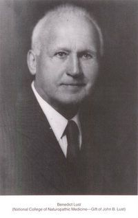Benedict Lust, considered the father of American naturopathy.