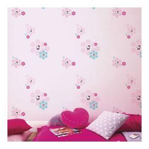 Papier peint Hello kitty, Dimensions du rouleau : Longueur 10,05 m x Largeur 0,53 m...sur www.shopwiki.fr ! #decoration_murale #papier_peint  #decoration_maison