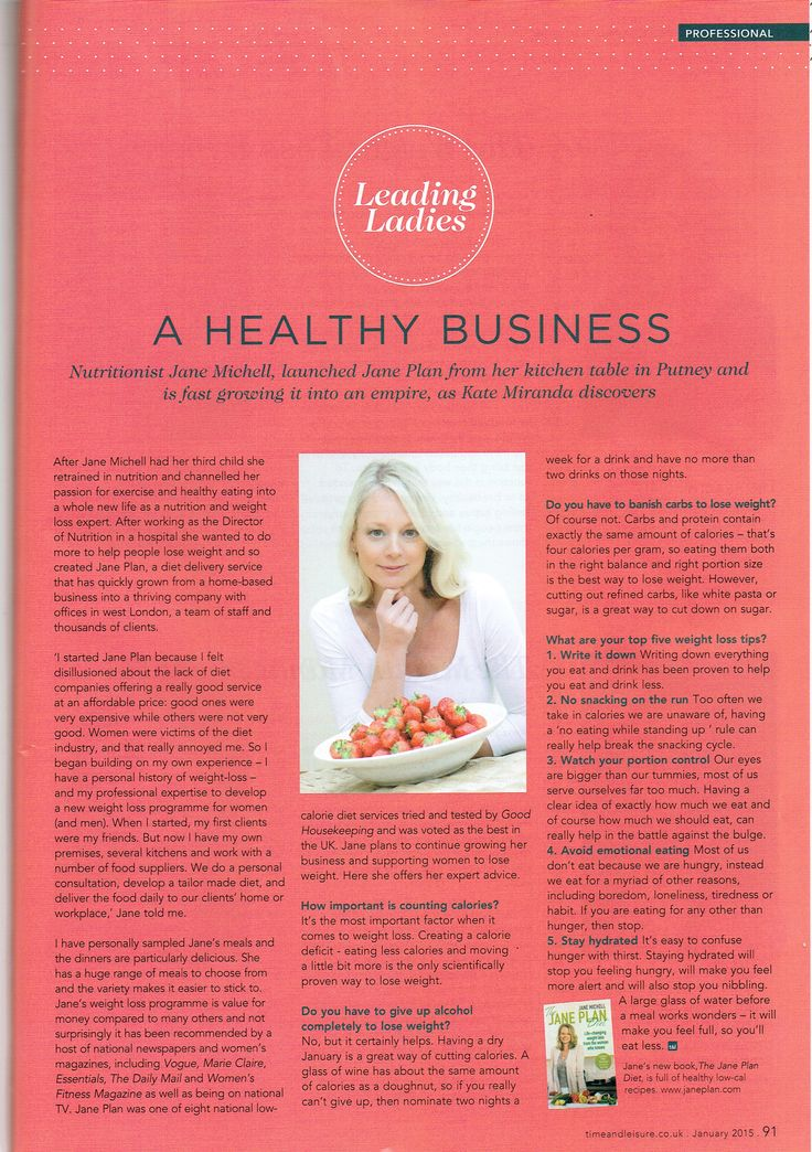 Lovley Jane in the January edition of Time & Leisure Magazine