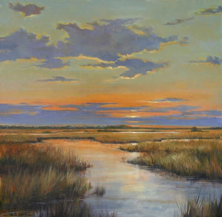 Autumn Sunset, by Paula B. Holtzclaw