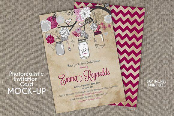Invitation Card Mockup by RD DesignStudio on @creativemarket