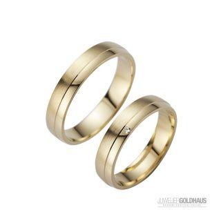 Trauringe Eheringe Gold Gelbgold - HR006