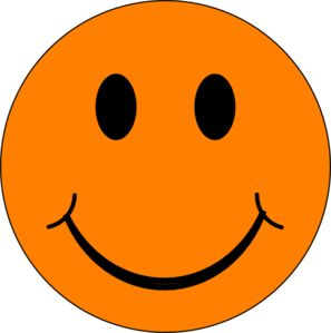 smiley face graphic free | Orange Smiley Face Clip Art
