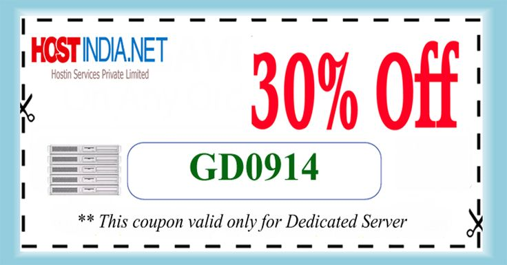 Flat 30% off on #Dedicated server. Use this #coupon code.
