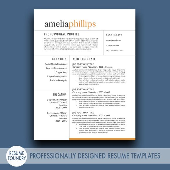 16 best Resume Templates images on Pinterest Resume, Cv resume - resume templates microsoft word 2003