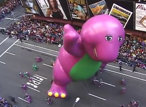 The Day Barney the Dinosaur Died in the Macy's Thanksgiving Day Parade http://www.babble.com/mom/the-day-barney-the-dinosaur-died-in-the-macys-thanksgiving-day-parade/