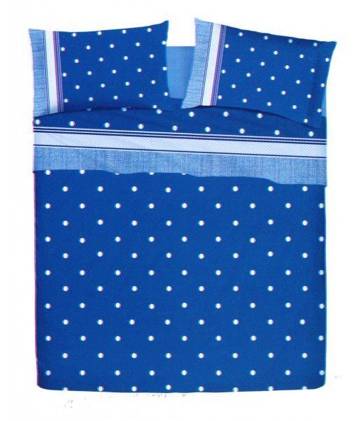 Completo lenzuola matrimoniale POIS percalle di cotone