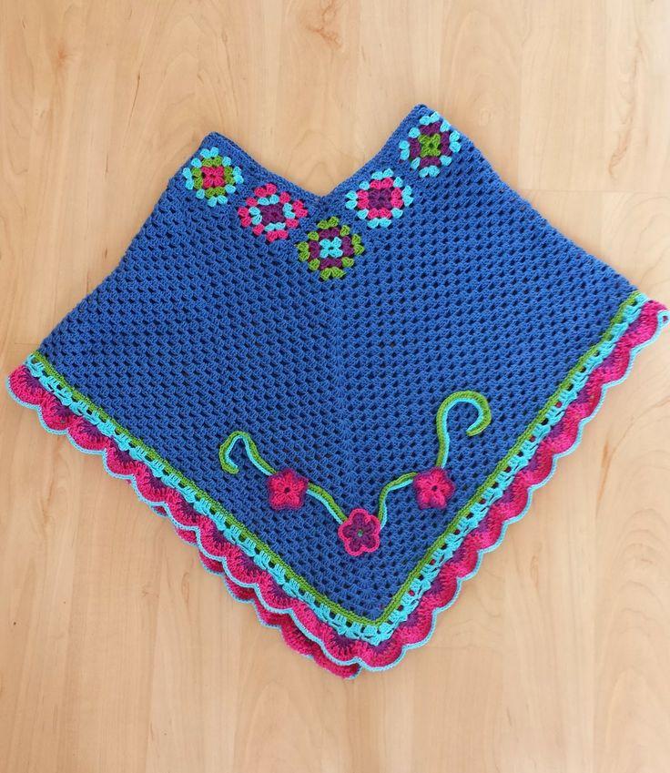 Crochet poncho Http://made-by-leen.blogspot.nl #crochet #poncho #haken
