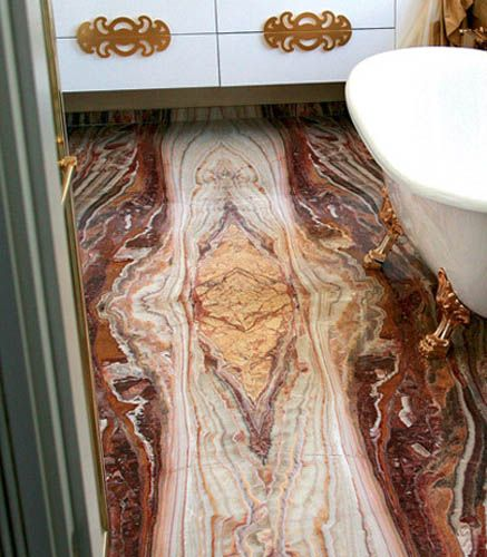 onyx is a natural stone for modern bathroom floor tiles