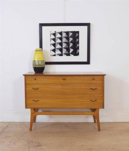 Mid Century Danish 60's Alfred Cox Compact Sideboard Chest of Drawers