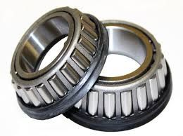 Tapered roller bearings are a variation on the cylindrical rollers. They are held in accurate alignment by a guide flange on the inner ring. The shape of the roller is tapered rather than straight right cylindrical. This allows thrust loads to be withstood in addition to the radial loads.http://www.brand4india.com/bearings-suppliers/products/deep-grove-ball-bearings/
