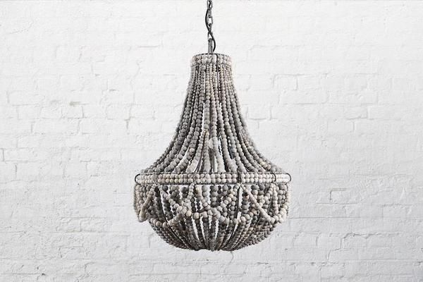 Amele Wood Beaded Chandelier With Images Wood Bead Chandelier Classic Chandeliers Beaded Chandelier