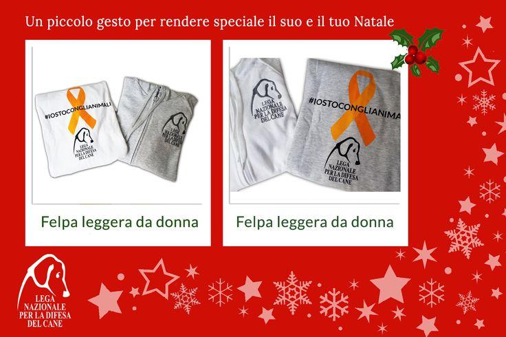 Un piccolo gesto per rendere speciale il suo e il tuo #Natale ♥ #felpa #shoppingsolidale #iostoconglianimali 👉 http://bit.ly/2fM0V3T