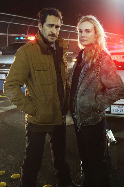 The Bridge (2013 FX TV show) cast members Demián Bichir and Diane Kruger