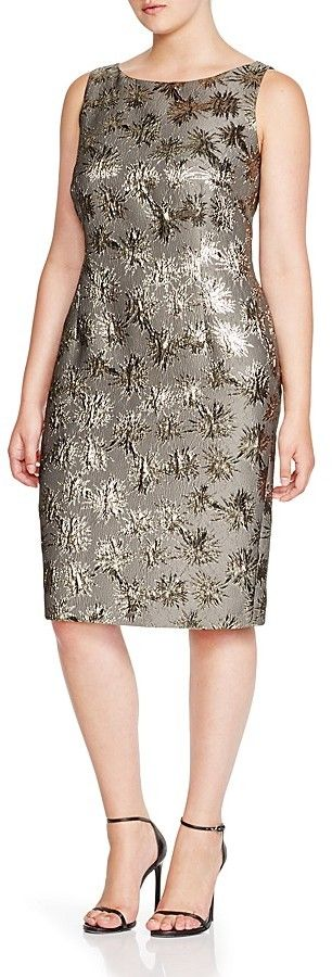 Marina Rinaldi Plus Dublino Metallic Jacquard Dress