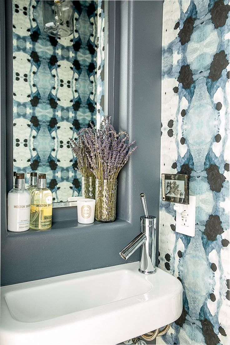 Photo Image Inspiration Roundup Beautiful Bathrooms Wallpaper permanent or temporary is another great way to change the look of a bathroom