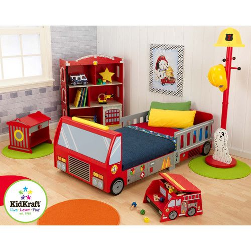 Found it at Wayfair - Firefighter Toddler Car Bed