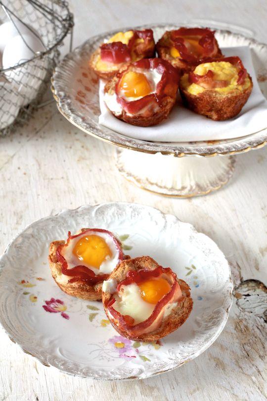 Bacon & Egg Toastcups - by TheNoshery.com