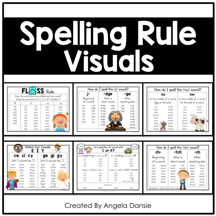 Spelling Rule Visuals | first grade | Spelling rules, Phonics rules
