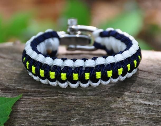The survival strap  550 paracord in a fancy bracelet, there when you need it.
