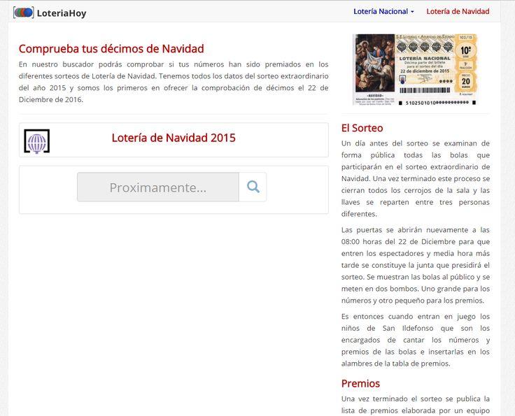 Comprobar sorteo de Navidad en LoteriaHoy #LoteríadeNavidad #Lotería #Gordo #Premios