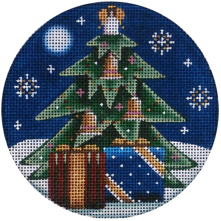 Get your presents early and treat yourself to this adorable #Christmas #needlepoint!