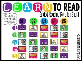This guided reading rotation board is perfect for keeping your reading block organized and on track!