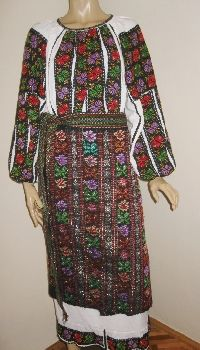 Stunning Romanian traditional costume from Muscel . Available at www.greatblouses.com