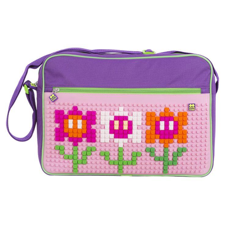 PIXIE CREW Messenger PURPLE / PINK - No pattern - Shoulder Bags  | Pixie Crew