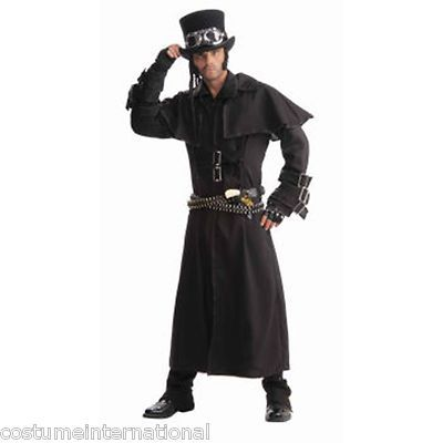 Steampunk Victorian Black Duster Coat Science Fiction Fantasy Revolution Mens