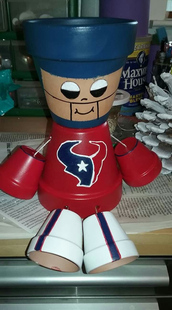 Houston texans clay pot flower pots clay pots houston