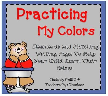 Color Flashcards and Worksheets To Practice Color RecognitionItem Description: This packet has been improved from what it once was... there are now two different sets of color flashcards for your child to learn to recognize their colors.  One set has a regular font with the color words written below the piece of clip art.