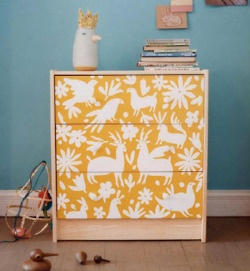 jazz up a boring chest of drawers....  http://www.tumblr.com/tagged/diy/popular: Ideas, Craft, Kids Room, Dressers, Baby, Furniture, Diy, Ikea Hack