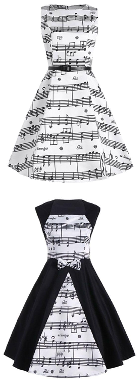 Musical Notes Printed Dress