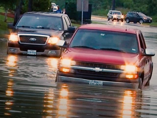 """Houston faces another day of rain even as he city is already underwater after days of severe flooding, many areas seeing rainfall amounts between 10-20 inches.  """"How high is it going to get? You kno"""