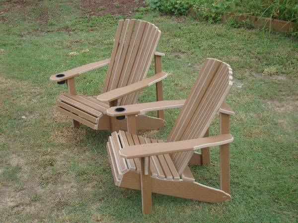 composite benches outdoors | Carolina Backyards Outdoor Furniture: Composite Adirondack chairs ...