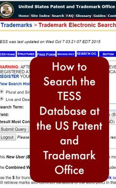 Tutorial: How to Search the US Patent & Trademark Office TESS Database - by cuttingforbusiness.com