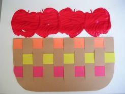 apple basket weavingFine Motor, Kindergarten Apples
