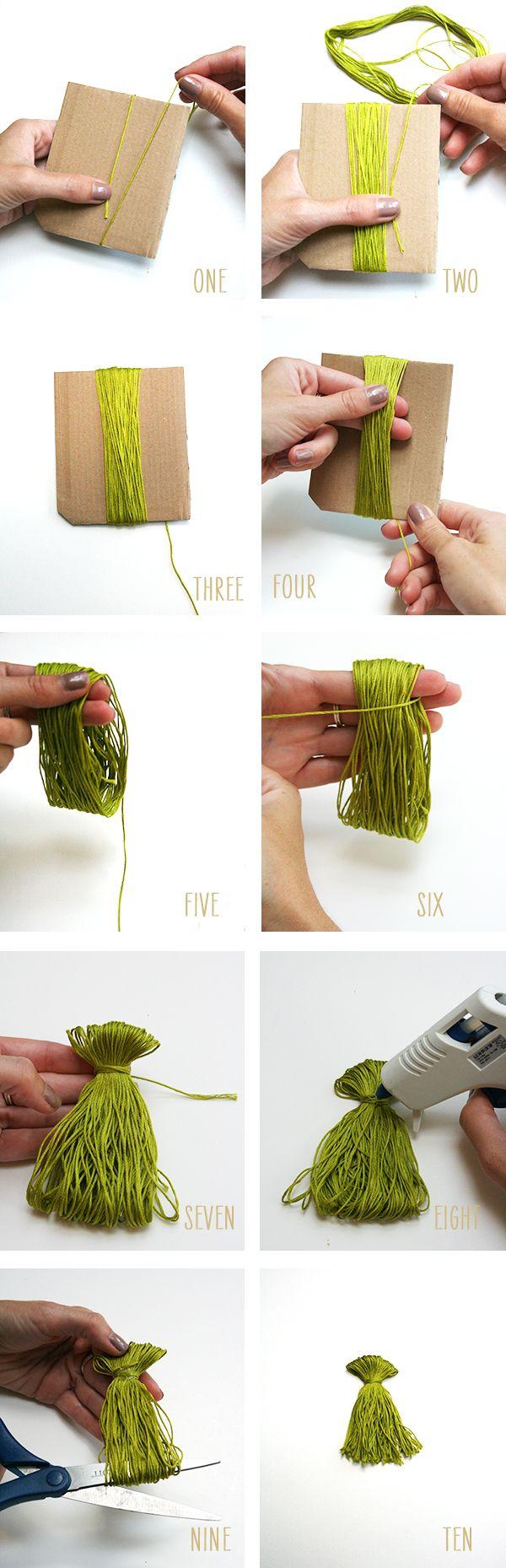 DIY : Mini Tassel Garland