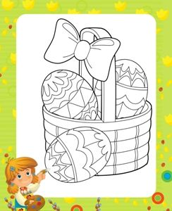 Activitati copii, planse de colorat Oua de Paste Easter craft for kids