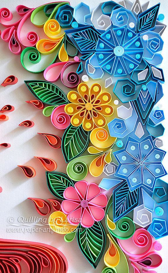 Original Paper Quilling Wall Art Love Works by QuillingbyLarisa