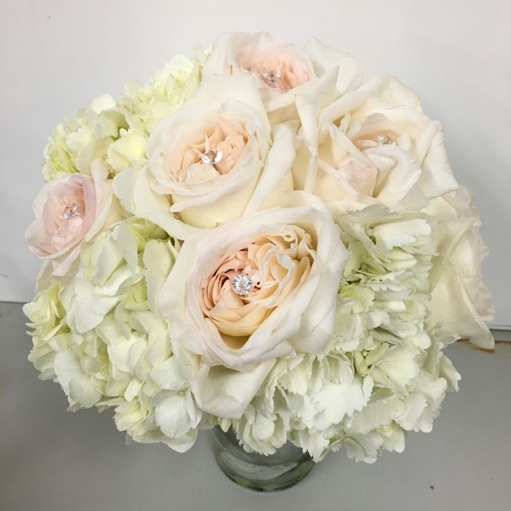 ... Garden Rose And Hydrangea Bouquet