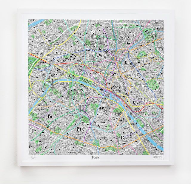 Paris Mapped in Style by Jenni Sparks