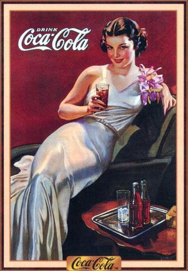 PIN UP GIRLS IN VINTAGE ADS: When Advertising Boasted of Curves | Ad appears to be from 1930s . . .